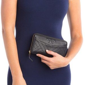 Tory Burch Alexa Quilted Zip Continental Wallet